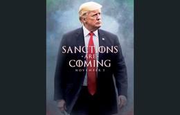 Mỹ tái áp đặt toàn bộ lệnh trừng phạt Iran