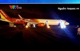 Máy bay Vietjet Air gặp sự cố nghiêm trọng khi tiếp đất