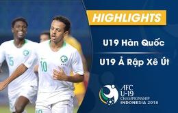 VIDEO: Tổng hợp diễn biến chung kết U19 châu Á, U19 Hàn Quốc 1-2 U19 Ả Rập Xê Út