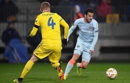 Kết quả lượt trận vòng bảng Europa League sáng 9/11: BATE 0-1 Chelsea, Arsenal 0-0 Sporting Lisbon