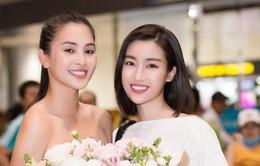 Hoa hậu Mỹ Linh ra sân bay đón Tiểu Vy trở về từ Miss World 2018