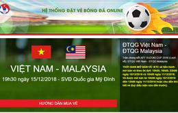 Vé online chung kết lượt về AFF Cup 2018 giữa Việt Nam - Malaysia giao trả từ sáng 13/12