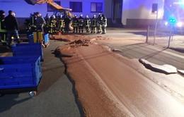 Đức: Cả tấn chocolate tràn ra đường vì nhà máy vỡ bể chứa