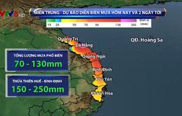 Tiếp tục có mưa lớn trên diện rộng khu vực Trung Bộ