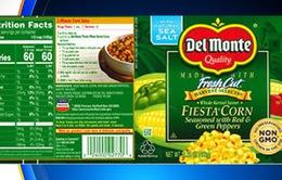 Mỹ thu hồi sản phẩm ngô đóng hộp Del Monte do nguy cơ ngộ độc
