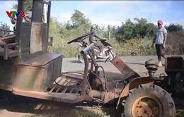 Hiểm họa khôn lường từ xe công nông không đèn