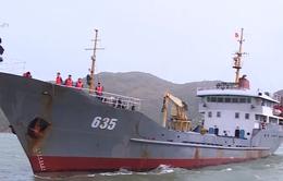 Vùng 3 Hải quân cứu tàu cá gặp nạn trên biển