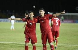 """""""Song Đức"""" lập công, ĐT Việt Nam đánh bại ĐT Philippines ngay trên sân khách (Bán kết lượt đi AFF Cup 2018)"""