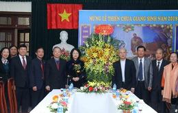 Phó Chủ tịch nước Đặng Thị Ngọc Thịnh thăm, chúc mừng một số cơ sở tôn giáo dịp lễ Giáng sinh 2018