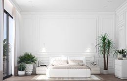 Ý tưởng trang trí phòng ngủ màu trắng mới lạ