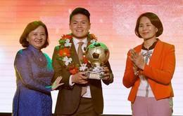 Trao giải Quả bóng Vàng Việt Nam: Quang Hải, Tuyết Dung được vinh danh