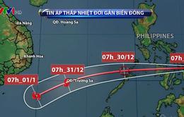 Ngày 30/12, áp thấp nhiệt đới đi vào Biển Đông, có thể mạnh lên thành bão