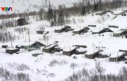 Lở tuyết tại vùng Khabarovsk, Nga