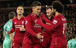 Bảng xếp hạng Ngoại hạng Anh cuối cùng năm 2018: Liverpool nới rộng cách biệt, Man City trở lại