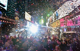 Quảng trường Thời đại thử màn pháo hoa mừng năm mới