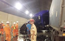 Vụ 2 xe container tông nhau trong hầm Hải Vân: Giao thông đã thông suốt trở lại