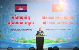 Thủ tướng chủ trì Diễn đàn Doanh nghiệp Việt Nam - Campuchia 2018