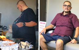 """Tưởng """"bụng bia"""" hóa ra là khối u nặng 35 kg"""