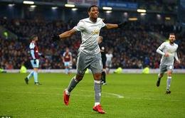 VIDEO Burnley 0-1 Man Utd: Martial tỏa sáng đúng lúc
