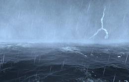 Mây dông liên tục phát triển và gây mưa trên biển phía Nam
