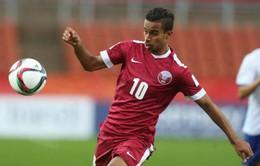 VIDEO: Akram Afif ghi bàn trên chấm phạt đền đưa U23 Qatar dẫn trước U23 Việt Nam