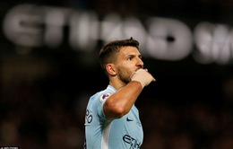 """Ghi 4 bàn vào lưới Leicester, Sergio Aguero gia nhập """"bộ tứ siêu đẳng"""""""
