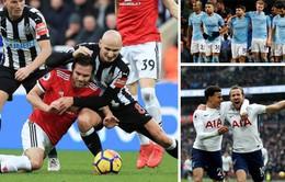 Kết quả, BXH Ngoại hạng Anh sau vòng 27: Man Utd thất bại cay đắng, Tottenham bước vào top 4