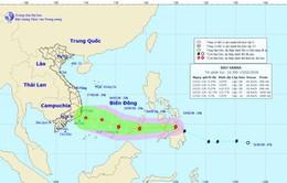 13h ngày 13/2, cường độ bão Sanba cấp 8, giật cấp 10