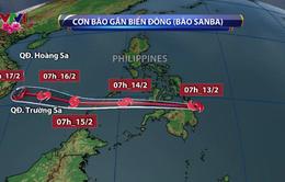 Bão Sanba có khả năng đi vào biển Đông