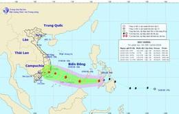 Tối nay (14/2), bão Sanba vào Biển Đông