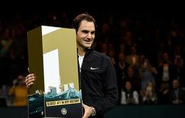 Roger Federer bước lên vị trí số 1 thế giới
