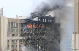 Cháy tòa nhà văn phòng 20 tầng ở Trung Quốc