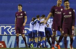 Thua sốc Wigan, Manchester City bị loại khỏi cúp FA