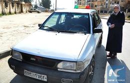 Nữ tài xế taxi tiên phong tại Aleppo, Syria