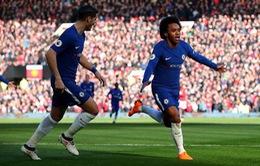 VIDEO, Man Utd 0-1 Chelsea: Willian dứt điểm hiểm hóc mở tỉ số trận đấu