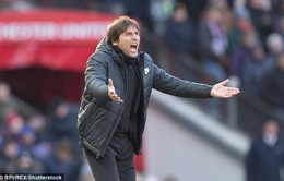 """Conte """"khóc hận"""" sau trận thua tức tưởi trước Man Utd"""
