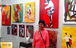Nữ họa sỹ Nam Trân tham gia triển lãm tranh tại Pháp