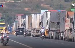 Xe chở nông sản qua biên giới Lạng Sơn bị ùn ứ nghiêm trọng