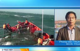 Đã cứu được 12 ngư dân bị chìm tàu