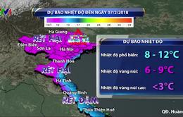 Không khí lạnh tăng cường thêm, duy trì rét đậm, rét hại ở Bắc Bộ
