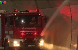 Diễn tập phòng cháy chữa cháy trong hầm đường bộ Đèo Cả