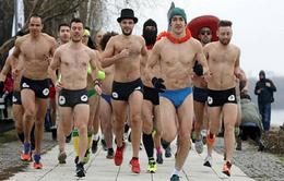 Serbia: Mặc đồ lót… chạy đua giữa thời tiết lạnh giá