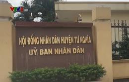 Quảng Ngãi: Ngươi mua hồ sơ mời thầu bị hành hung ngay tại UBND huyện