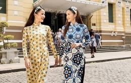 """Bộ đôi quán quân Vietnam's Next Top Model tươi tắn trong phong cách """"cô Ba Sài Gòn"""""""