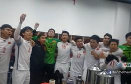 VIDEO: Các cầu thủ U23 Việt Nam ăn mừng sau chiến thắng trước U23 Qatar