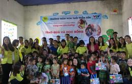 Hỗ trợ xây công trình phụ cho học sinh Mầm non Khe Ron