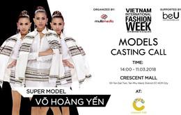 Siêu mẫu Võ Hoàng Yến chấm casting người mẫu cho Tuần lễ thời trang quốc tế Việt Nam Xuân - Hè 2018