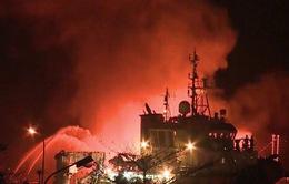 Cháy tàu chở xăng tại Hải Phòng: Có thể do máy bơm xăng bị kẹt