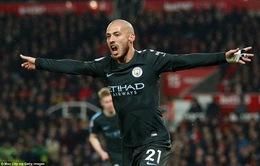 VIDEO tổng hợp diễn biến Stoke City 0-2 Man City