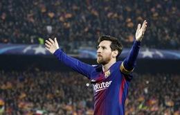 Messi cán mốc 100 bàn tại Champions League